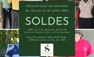 Soldes d'été au proshop du Golf de Servanes - Open Golf Club